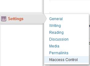 htaccess control